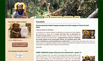 Creation site internet, webmastering, envoi des newsletters (2010, 2011)